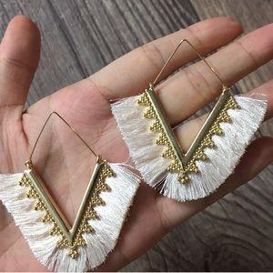 Anthropologie Jewelry - NWOT Anthropologie tassels earrings